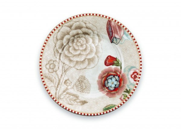 Petit Four Teller Spring to Life Weiß von PIP Studio