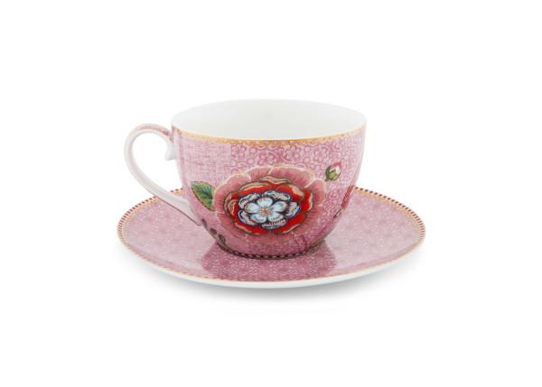 Tasse und Untertasse Spring to Life Pink