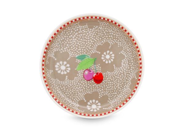 Teebeutel Ablage Dotted Flower Khaki