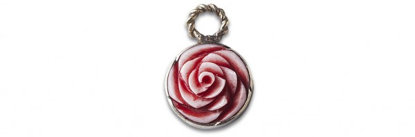 Anhänger Relics Padma Valentine Red Bone von Noosa Amsterdam