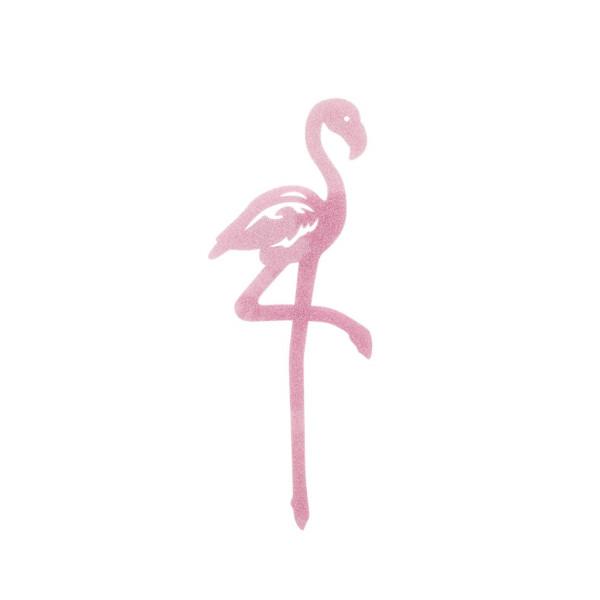 Cake Topper Flamingo Glitzer