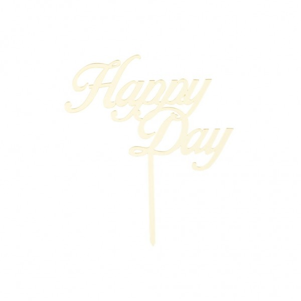 Cake Topper HAPPY DAY Gold