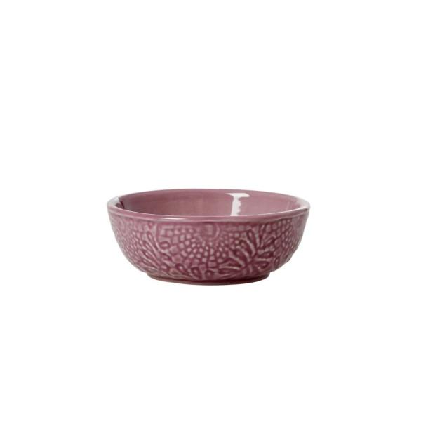Keramik Dip Schale geprägt Dunkel Lavendel