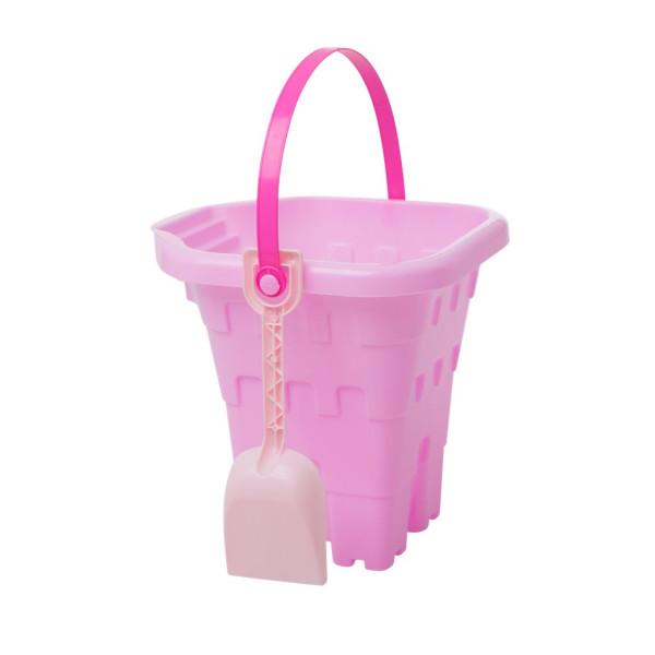Eimer Schloss mit Schaufel Pink