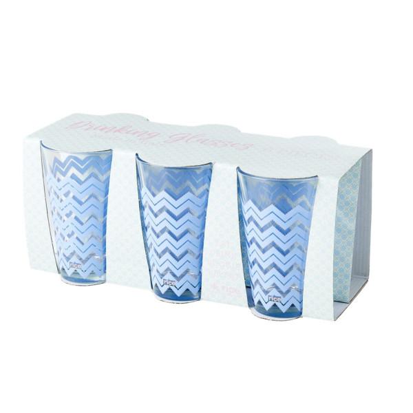 Trinkglas Chevron Blau