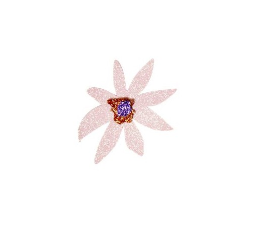 Glitzer Brosche Flower von Rice