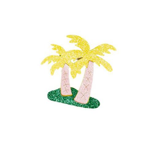 Glitzer Brosche Palm Tree