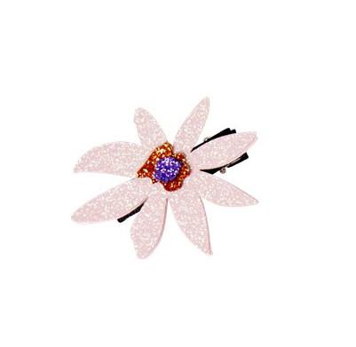 Glitzer Haarklammer Flower