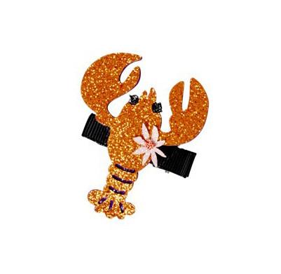 Glitzer Haarklammer Lobster
