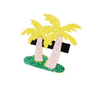 Glitzer Haarklammer Palm Tree