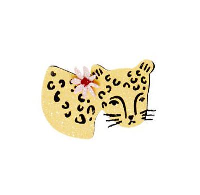Glitzer Haarklammer Leopard