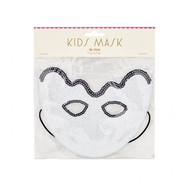 Kinder Pailetten Maske Ghost von Rice