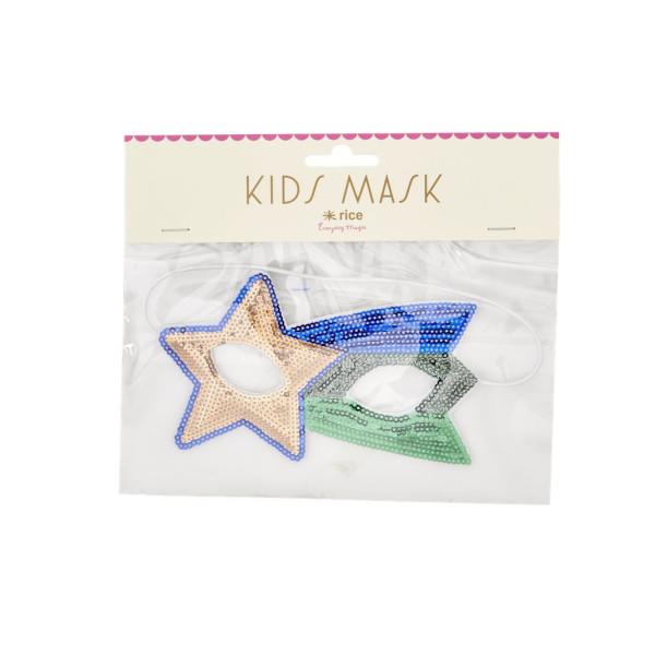 Kinder Pailetten Maske Star von Rice