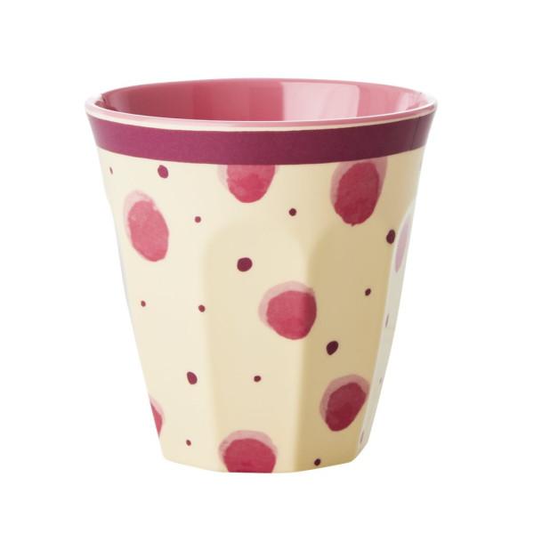 Melamin Becher Pink Watercolor Splash Two Tone von Rice