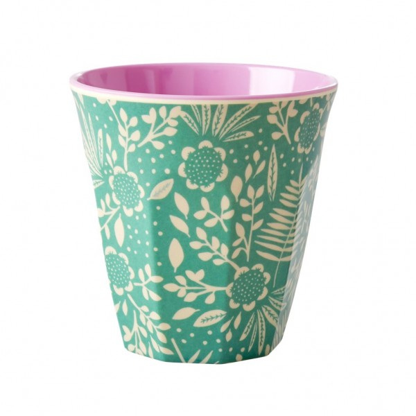 Melamin Becher Two Tone Fern and Flower