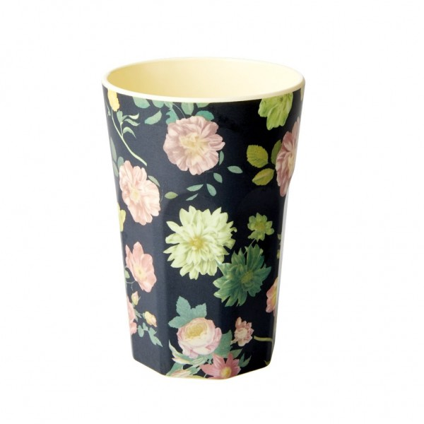 Melamin Latte Cup Dark Rose von Rice