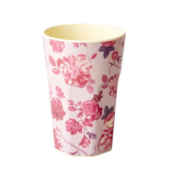 Melamin Latte Cup Pink Rose