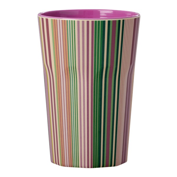Melamin Latte Cup Today is Fun Stripe Print