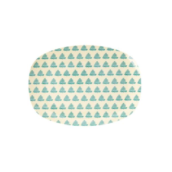 Kleiner Melamin Servierteller Christmas Trees von Rice