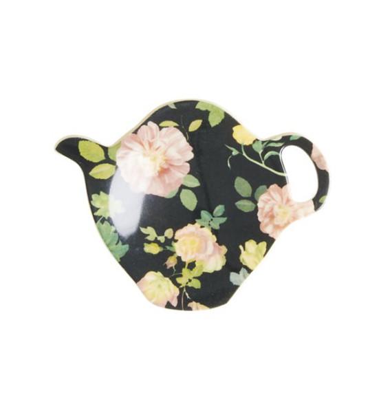 Melamin Teebeutelablage Dark Rose