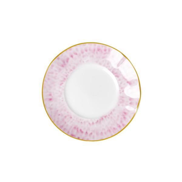 Porzellan Dessertteller Glaze Bubblegum Pink von Rice