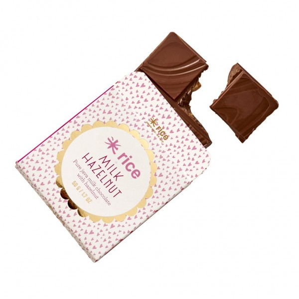 Schokolade Java Milk Haselnuss von Rice