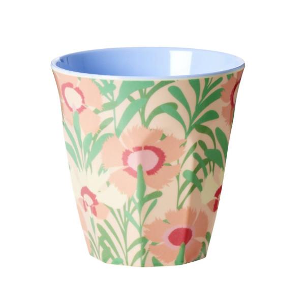 Melamin Becher Zweifarbig Vintage Florals von Rice