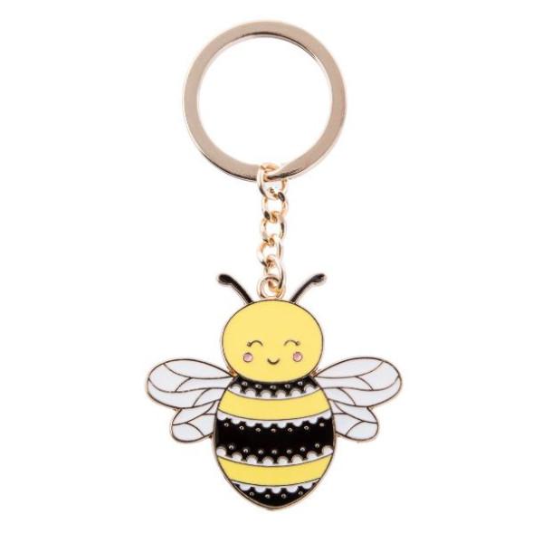 Schlüsselanhänger Happy Bee Emaille von Sass & Belle