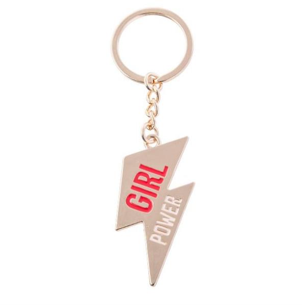 Schlüsselanhänger Girl Power Emaille von Sass & Belle