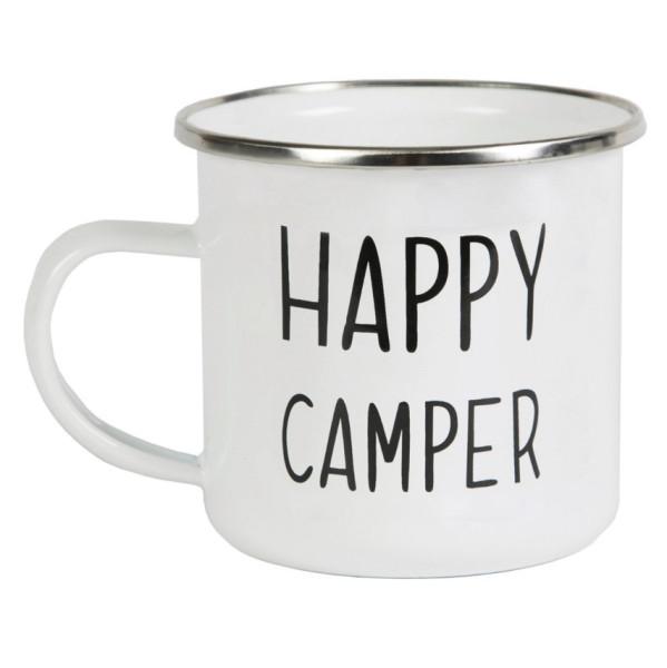 Becher Emaille Happy Camper von Sass & Belle