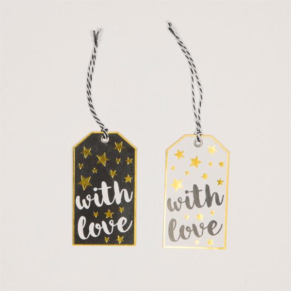 Geschenkanhänger With Love Merry Monochrome von Sass & Belle