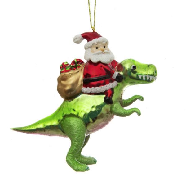 Glaskugel Weihnachtsmann & Dino von Sass & Belle