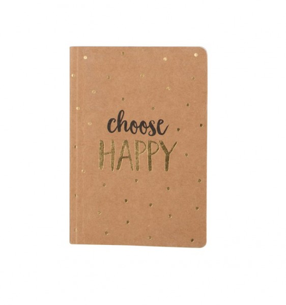 Taschen Notizbuch Choose Happy