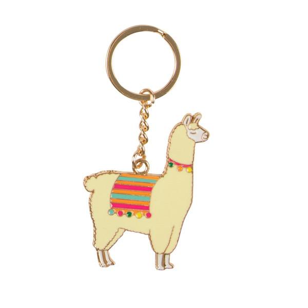 Schlüsselanhänger Lima Llama Emaille