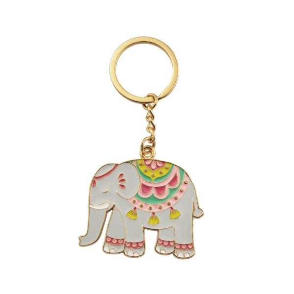 Schlüsselanhänger Mandala Elephant Emaille