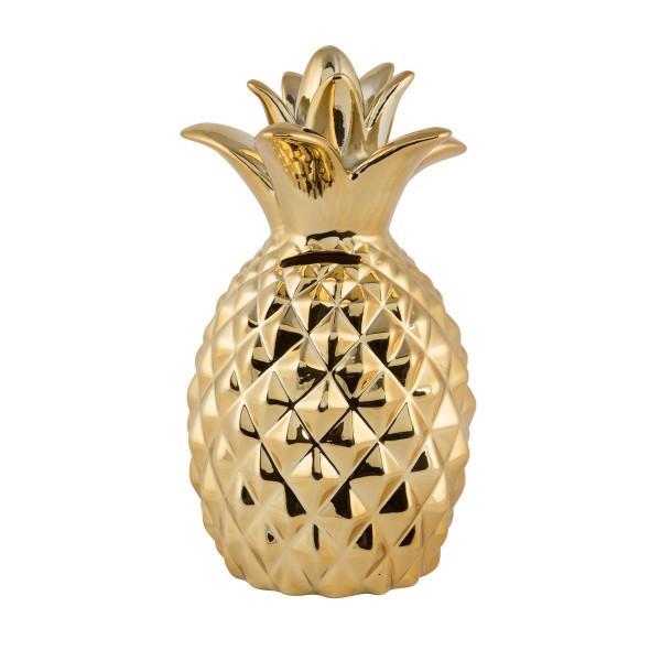 Spardose Ananas Gold
