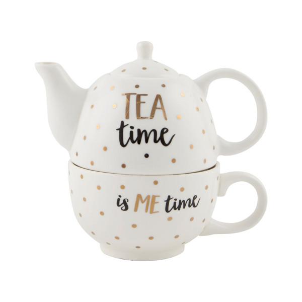 Teekanne für Einen Metallic Monochrome
