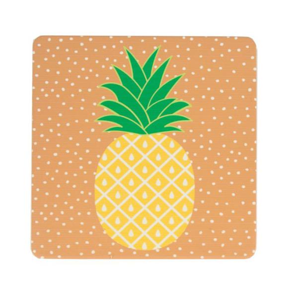 Untersetzer Tropical Summer Ananas