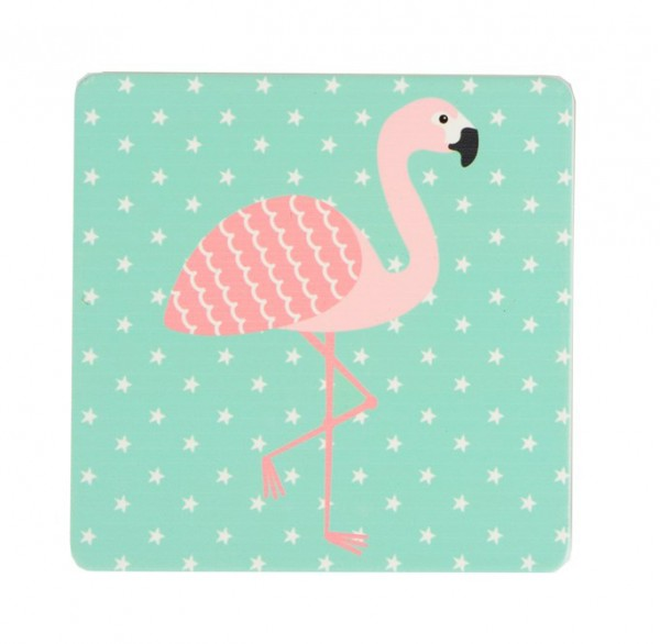 Untersetzer Tropical Summer Flamingo