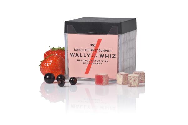 Vegane Fruchtgummis schwarze Johannisbeere mit Erdbeere
