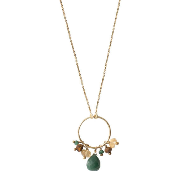 A Beautiful Story Kette Sparkles Aventurin Mix Gold