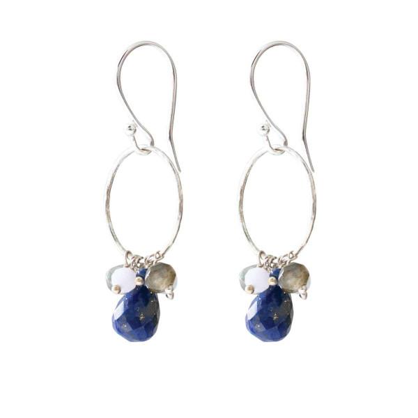 A Beautiful Story Ohrringe Flourish Lapis Lazuli Mix Silber