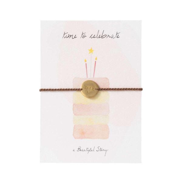 A Beautiful Story Schmuckkarte Kuchen