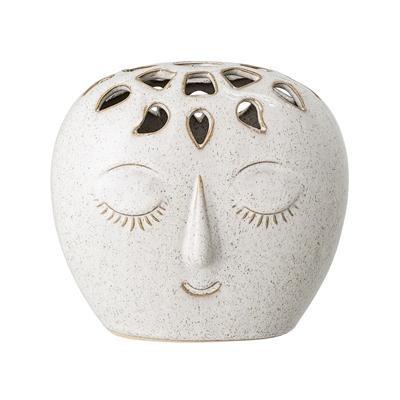 Vase mit Gesicht Weiß von Bloomingville