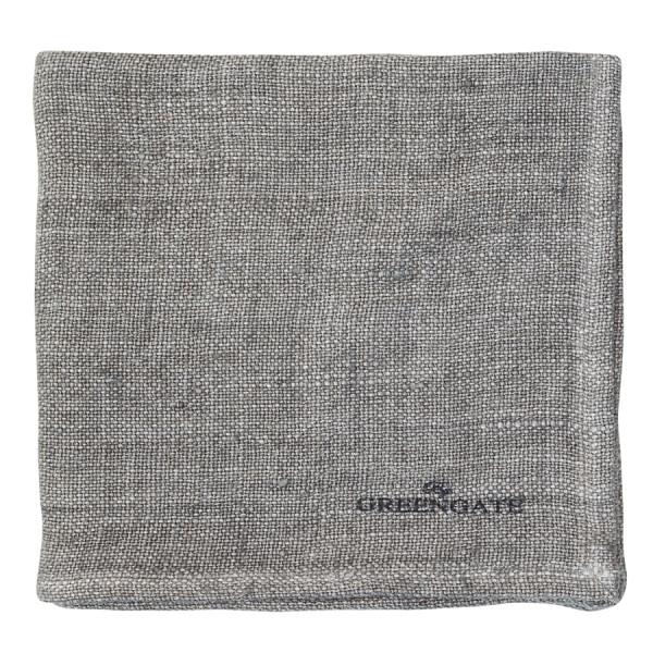 Stoffserviette Heavy linen warm grey