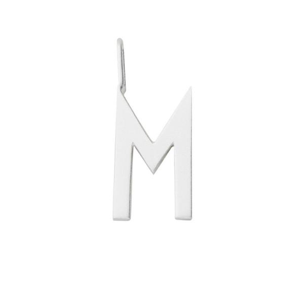 Anhänger M Silber von Design Letters