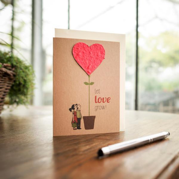 Klappkarte Let Love Grow von Die Stadtgärtner