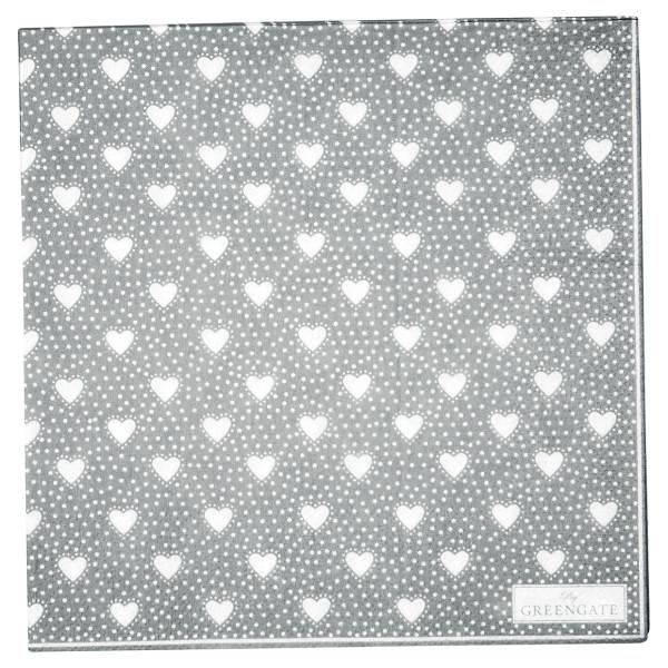 Große Papierservietten Penny Grey von GreenGate