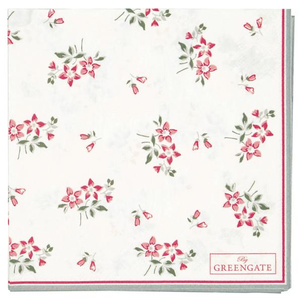 Kleine Papierservietten Avery White von GreenGate