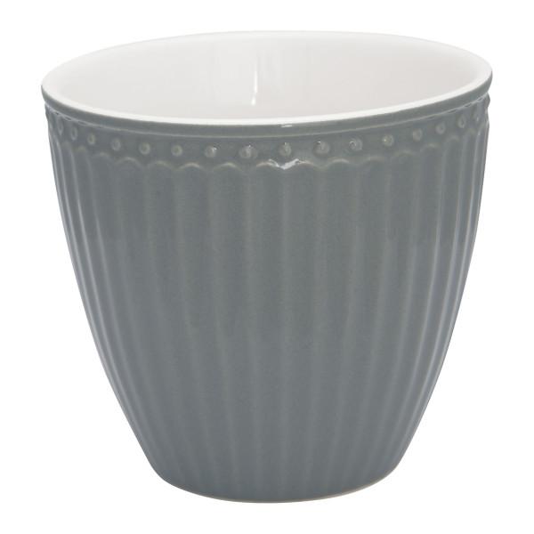 GreenGate Latte Cup Alice Stone Grey
